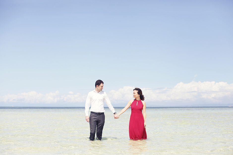 Nalusuan Island Cebu Engagement Session - Omar and Xiaowen